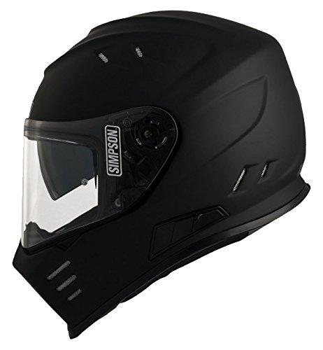 tama/ño XS negro mate Simpson Venom casco