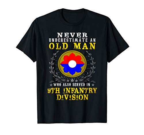 Never underestimate A Man - 9th Infantry Division Tshirt ()