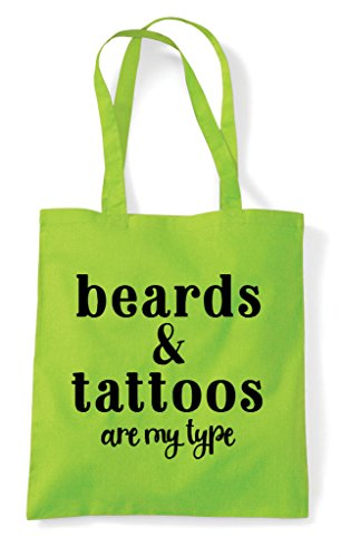 Statement Type And Are My Tote Beards Bag Lime Tattoos Shopper waAqFnwx7