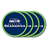 Duck House NFL Seattle Seahawks Vinyl Coaster Set (Pack of 4)