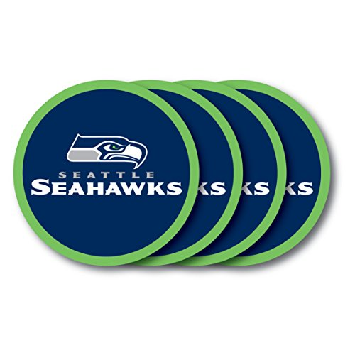 - NFL Seattle Seahawks Vinyl Coaster Set (Pack of 4)