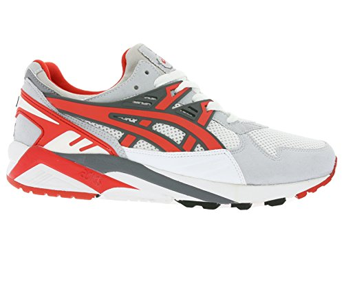 Asics Onitsuka Tiger Gel-Kayano Trainer H403N-0123 Sneaker Shoes Schuhe Mens White/Fairy Red Comprar Falso Barato wNKBoAqjf