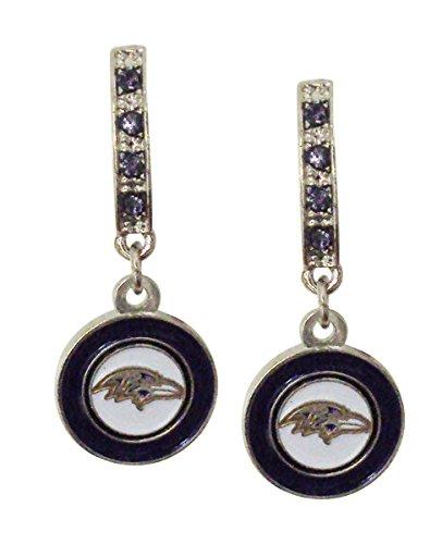 NFL Baltimore Ravens Bar Post Earrings -