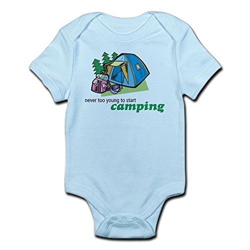 CafePress-Never-Too-Young-to-Start-Camping-Infant-Creeper-Cute-Infant-Bodysuit-Baby-Romper