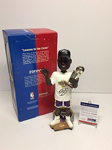 Shaq Shaquille O'Neal Signed Lakers Basketball 2002 Champs Bobblehead - PSA/DNA Certified - Autographed NBA Figurines
