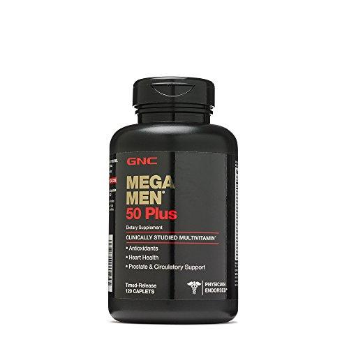 Gnc Mega Men 50 Plus Daily Multivitamin  Supports Memory Function  Prostate Heart Health   120 Caplets