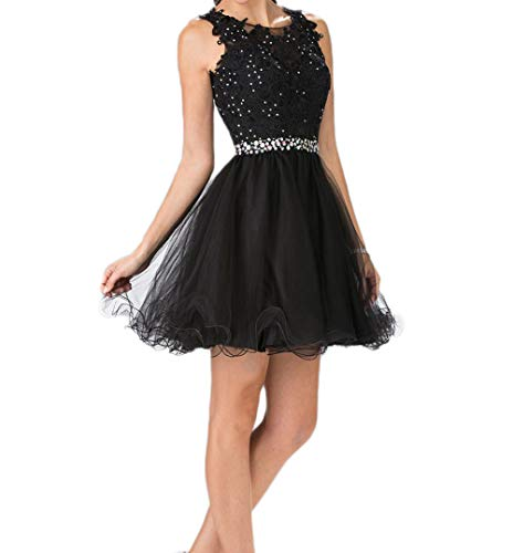 Ruffles Style2 black High Dress Homecoming Illusion Neck ZVOCY Low Cocktail Dress Party Prom Lace Fq0Uxw7