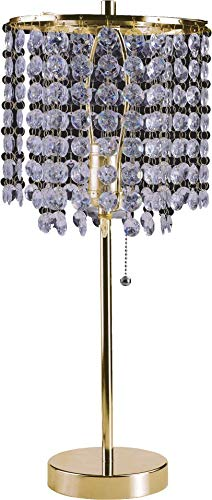 SH Lighting Crystal Inspired Table Desk Lamp - Features Convenient Pull Chain - 19