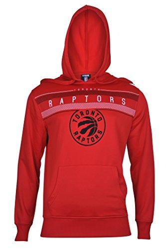 fan products of NBA Men's Toronto Raptors Fleece Hoodie Pullover Sweatshirt Poly Midtown, X-Large, Red