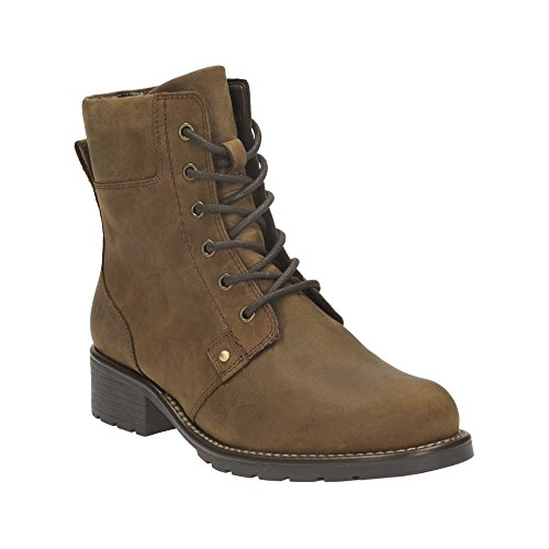 Clarks Mainline Womens Orinoco Spice Brown Leather Boots ...
