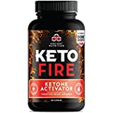 Altertum Nutrition KetoFIRE Capsules, Keto Supplement with BHB Salts as Exogenous Ketones, Electrolytes and Caffeine, Keto Diet, Ketosis Booster, 180 Count