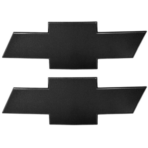 All Sales 96127K Ami Chevy Bowtie Grille and Tailgate Emblem without Border, Black (Pack of 2)