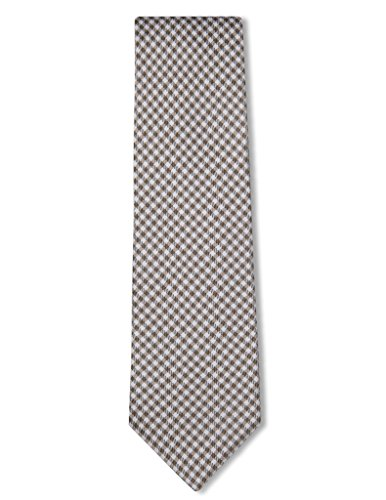 Origin Ties Men's Silk Skinny Necktie Handmade Micro Gingham Checkered Tie Yellow