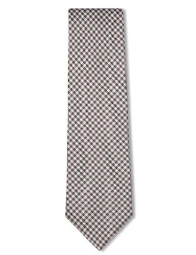 Origin Ties Men's Silk Skinny Necktie Handmade Micro Gingham Checkered Tie Yellow