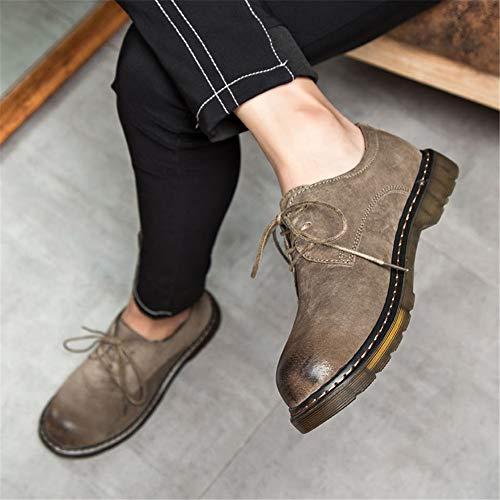 da da Dimensione EU da Pelle Scarpe Cachi shoes shoes shoes Ox Uomo Arrotondata Punta 39 Lavoro Casual Moda alla Stivaletti Shufang con Color in 4UIpWq