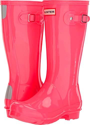 Hunter Kids Unisex Original Kids' Gloss Rain Boot (Little Kid/Big Kid) Hyper Pink 5 M US Big Kid