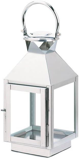 Koehler Home Kitchen Decorative Hanging Dapper Stainless Steel Candle Lantern