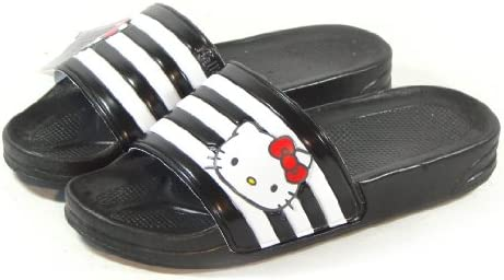 115f473fc Amazon.com: Hello Kitty LALA Lovely Womens Summer Slippers Shoes Beach Pool  Black US size 6: Beauty