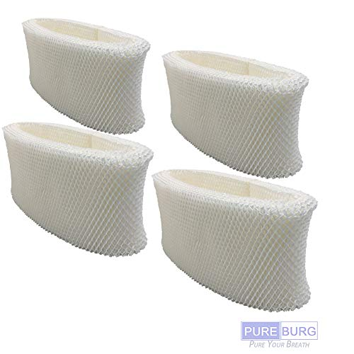 Pureburg 4-Pack Wick Filters for Kaz WF2 fits Vicks V3100 V3500N V3500 V3600 V3700 V3800 V3900 Kaz 3020 Sunbeam 1118 1119 1120 VEV320 Honeywell HCM-350 HCM-650 humidifiers
