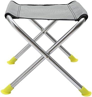 ステンレススチール折りたたみスツールポータブルホーム屋外キャンプピクニック釣りスツール折り畳み丈夫な小さなベンチ (Size : L29*W25*H26cm)