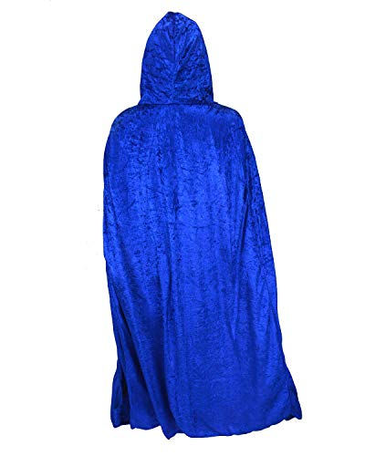 Gardeningwill Unisex Halloween Party Easter Festival Magic Hooded Costume Cloak Blue]()