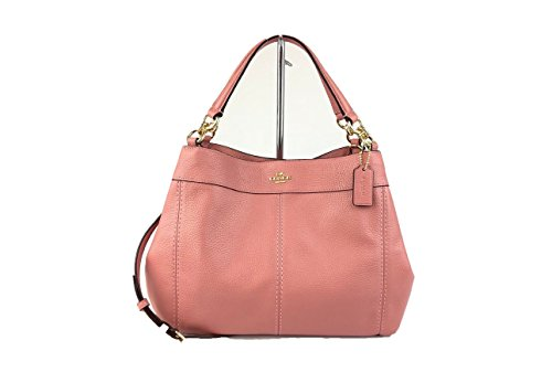 Coach Pebbled Leather Small Lexy Shoulder Bag Handbag Vintage Pink ()