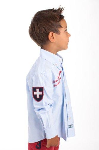 La Martina Kids Hemd Swiss Mountain Social Polo Hellblau LM-G4