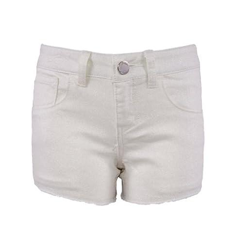 Pinc Premium Little Girls' Glitter Short 3T Ivory (Pinc Premium Toddler)