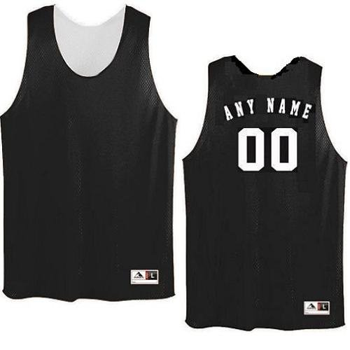 64c4731cb Black White Adult Medium Customized (Any Name and or Number) Basketball  Reversible Tricot Mesh Polyester Tank Jersey Shirts