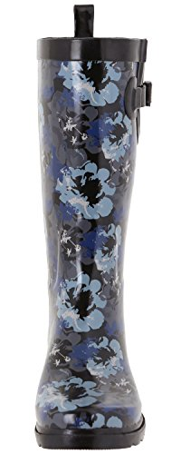 Roses York Tall Rainboot Lace Print amp; Ladies Printed Shiny New Capelli Black 5wq8Y8