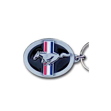Ford Mustang Pony & Bar Logo Metal Key Chain