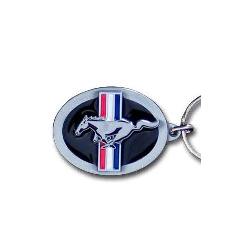 Ford Mustang Pony & Bar Logo Metal Key Chain Ford Mustang Logos
