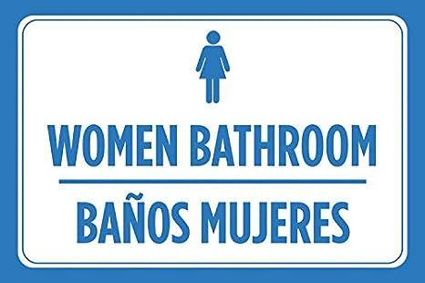 Amazon.com: Las mujeres baño Banos Mujeres Español, color ...