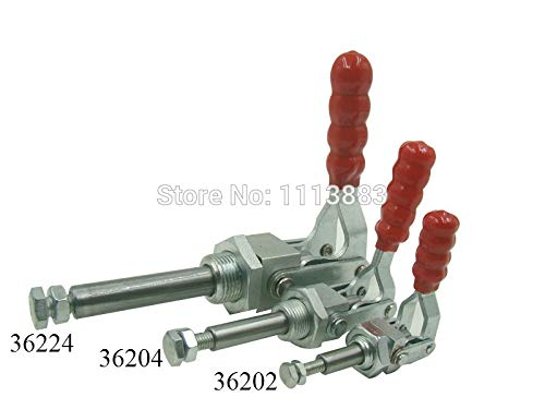 Ochoos 3PCS Push Pull Type Toggle Clamp 36204 Holding Capacity 136KG 300LBS Plunger Stroke 38mm by Ochoos (Image #3)