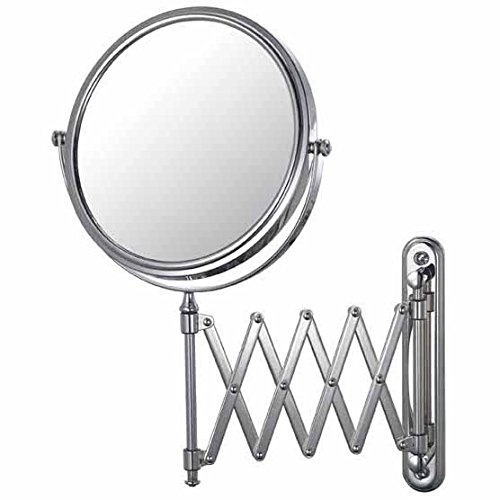Mirror Image 23345 Extension Arm Wall Mirror, 7.75-Inch Diameter, 1X and 5X Magnification, (Swing Arm Extension Mirror)