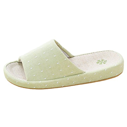 Breathable Women Arch Slippers Comfortable Design Casual Green Linen House bestfur f8HqEwdvE