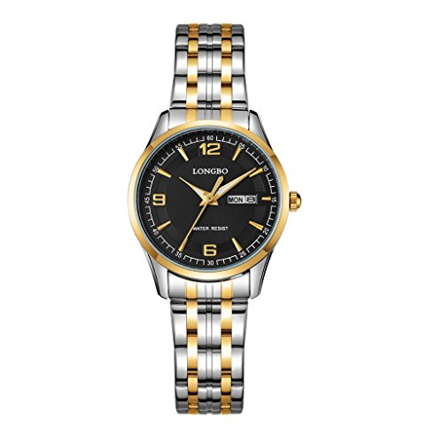 Women's Black Bangle LED Wrist Watch - 6