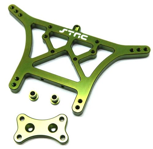 ST Racing Concepts ST3638G Aluminum Rear Shock Tower for Traxxas Slash, Stampede and Rustler (Green)