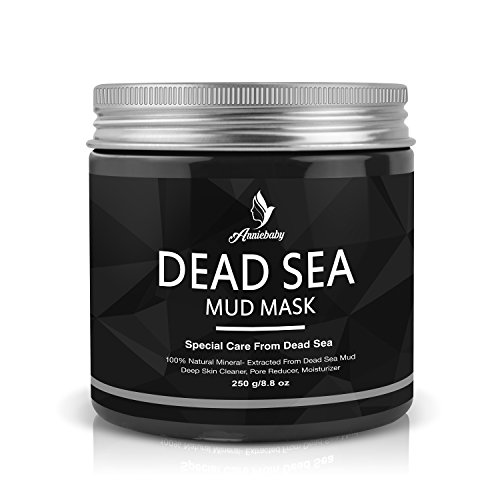 Dead Sea Mud Facial Mask-Spa Exfoliating Mask for Face Body by Anniebaby-Skin Deep Clean moisturize Treatment, Reduces Acne Wrinkles, Blackhead Remover, Pore Minimizer for Men and ()