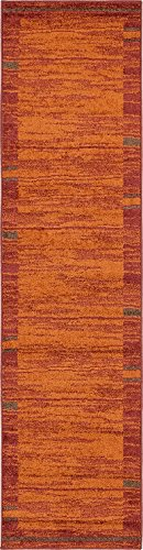 Modern Area Rug (Terracotta - 2' 6'' x 10'-Feet Runner) Giza Collection Home Floor Décor Rugs - Living, Dinning, Office, Rooms & Bedrrom, Hallway Carpet