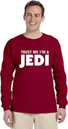 Trust Me Im A Jedi Long Sleeve T Shirt Independence Red Adult Lg