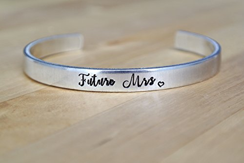Future Mrs Bracelet | Engagement Gift | Hand Stamped Cuff Bracelet | Hand Stamped Jewelry | Wedding Jewelry | Bride Gift | Bride Jewelry | Wedding Gift | Shower Gift
