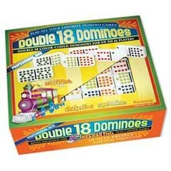 Professional Colored Dots Double 18 Domino Game