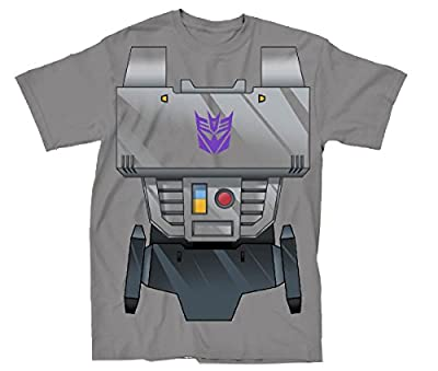 Transformers Megatron Chest Plate Mens Grey T-Shirt