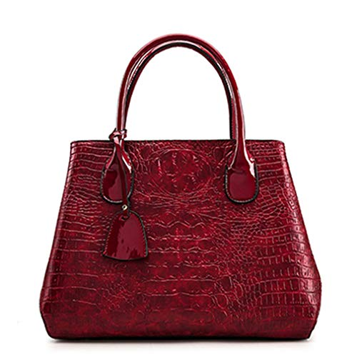 Leather Black Handbags Women Red 35cm15cm26cm Alligator Pattern RIqEBxq6