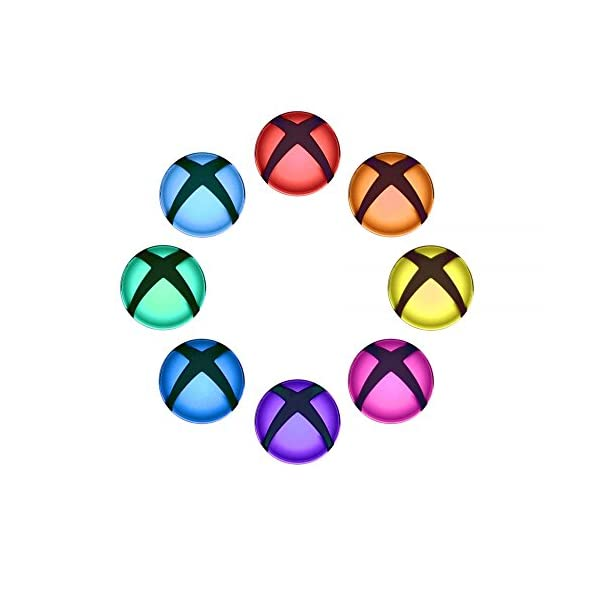 eXtremeRate Custom Home Guide Button LED Mod Stickers for Xbox One/S/Elite/X Controller with Tools Set - 40pcs in 8 Colors 7