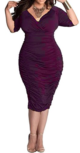 Delcoce Stretch Bodycon Cocktail Dresses product image