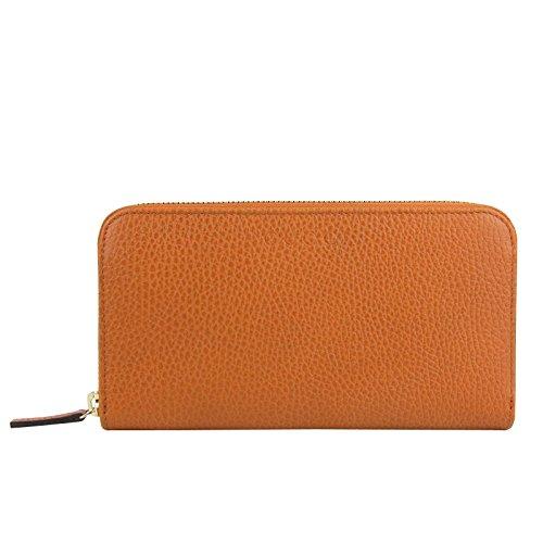 Gucci Zip Around Dark Orange Leather Long/Continental Wallet 363423 7614 ()