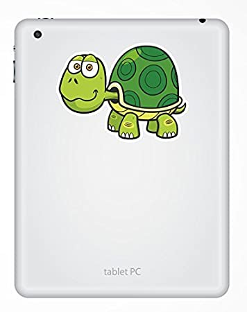 2 x 10cm//100mm tartaruga adesivo vinile adesivo da viaggio per portatile auto bagagli iPad segno divertimento #5363