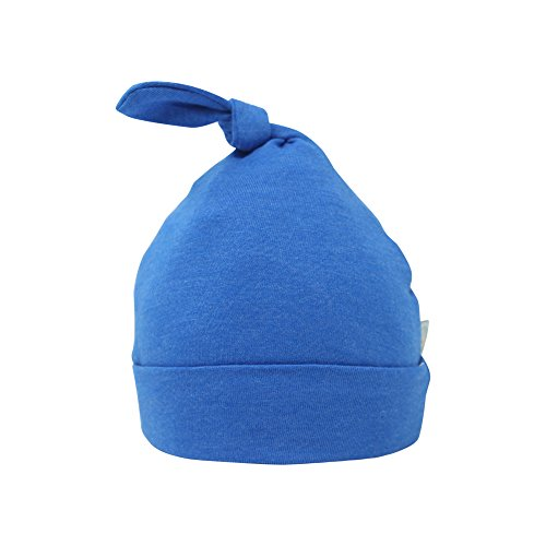 Bum Chicoo Unisex Baby Cotton Knot Hat (Royal Blue, 0-3 Months) -
